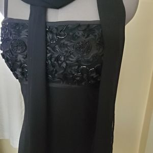 JS Collections Dresses - Black Beaded Gown